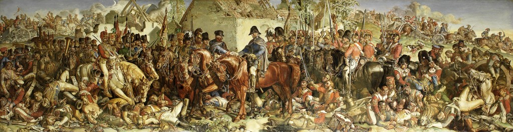 Maclise's depiction of Wellington meeting Blucher